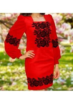 Плаття, червоний габардин (6097)