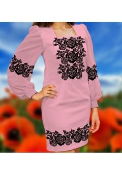 Плаття, рожевий габардин (6097)
