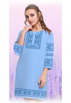 Плаття, голубий габардин (6098)