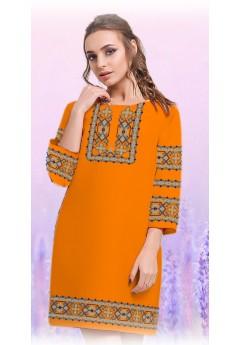 Плаття, оранжевий габардин (6098)