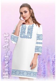 Плаття, льон білий (6098)