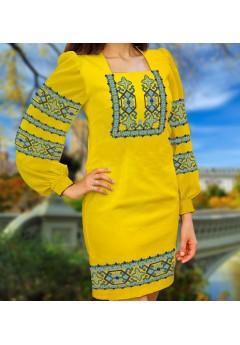 Плаття, жовтий габардин (6098)