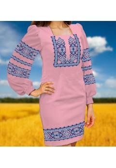 Плаття, рожевий габардин (6098)