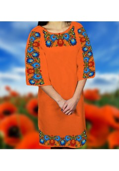 Плаття, оранжевий габардин (6099)
