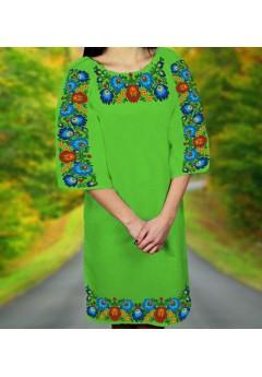 Плаття, салатовий габардин (6099)