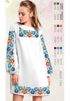 Плаття, льон білий (6099)