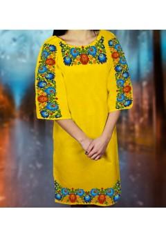 Плаття, жовтий габардин (6099)
