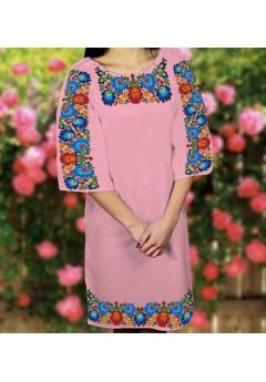 Плаття, рожевий габардин (6099)