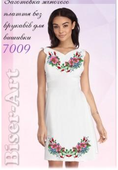Плаття без рукавів, льон білий (7009)