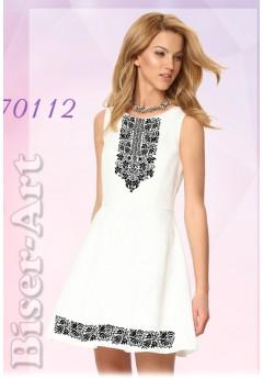 Плаття без рукавів, льон білий (70112)