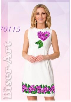 Плаття без рукавів, льон білий (70115)