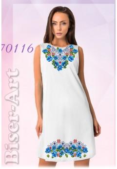 Плаття без рукавів, льон габардин (70116)
