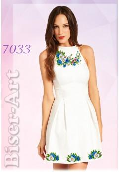 Плаття без рукавів, льон білий (7033)