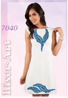 Плаття без рукавів, льон білий (7040)