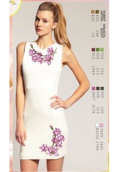Плаття без рукавів, льон білий (7042)