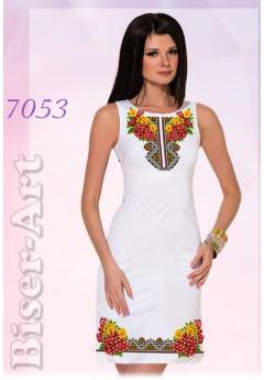 Плаття без рукавів, льон білий (7053)