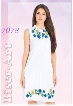 Плаття без рукавів, льон білий (7078)