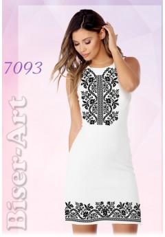 Плаття без рукавів, льон білий (7093)