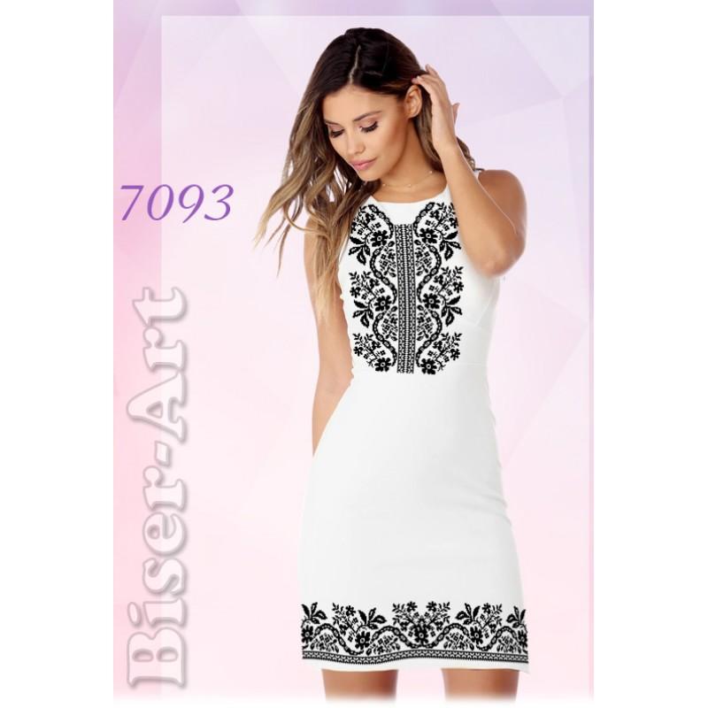 e04b8cadd52465 Плаття без рукавів, білий габардин (7093)