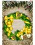 Схема вишивки бісером (хрестиком) Вінок новорічний в золоті (782)