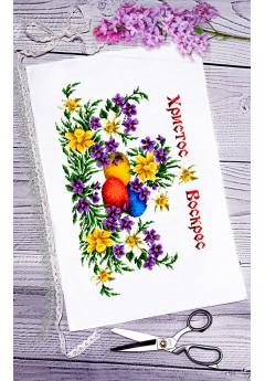 Пасхальний рушник для вишивки бісером(нитками) (082)