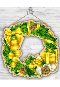 Вінок новорічний в золоті (93040537)