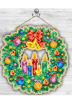 Вінок новорічний зі свічками (93040540)