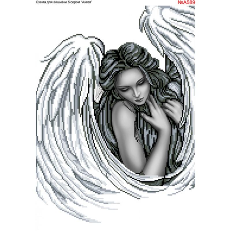 5920fe1b3e25b2 Схема вишивки бісером (хрестиком) «Ангел (А589)»