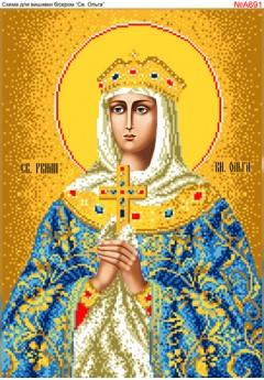Схема вишивки бісером (хрестиком) «Св, Ольга (А691)»