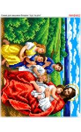 Схема вишивки бісером (хрестиком) «Ісус і діти (АВ462)»