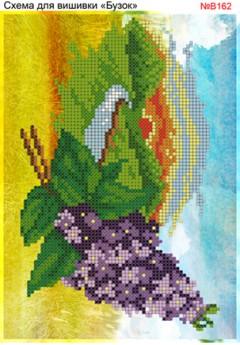 Схема вишивки бісером (хрестиком) - «Бузок (В162)»
