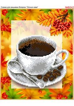 Схема вишивки бісером (хрестиком)Кава осіння (B242)