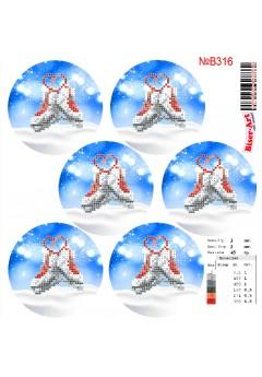 Схема вишивки бісером (хрестиком)Новорічні ігршки (B316)