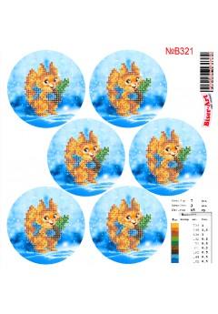 Схема вишивки бісером (хрестиком)Новорічні ігршки (B321)