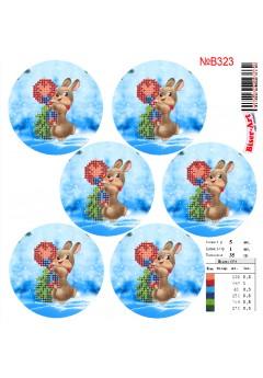 Схема вишивки бісером (хрестиком)Новорічні ігршки (B323)