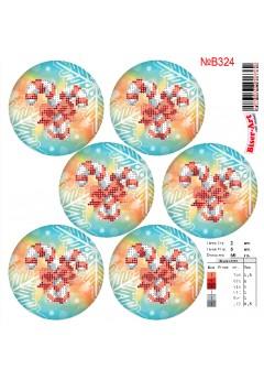 Схема вишивки бісером (хрестиком)Новорічні ігршки (B324)