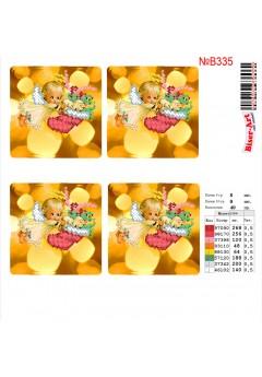 Схема вишивки бісером (хрестиком) Новорічні ігршки (B335)