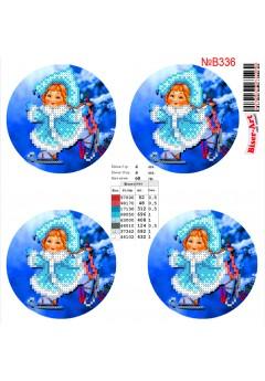Схема вишивки бісером (хрестиком) Новорічні ігршки (B336)