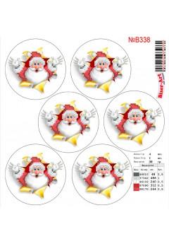 Схема вишивки бісером (хрестиком) Новорічні ігршки (B338)