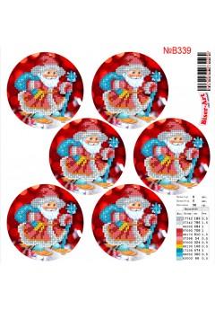 Схема вишивки бісером (хрестиком) Новорічні ігршки (B339)