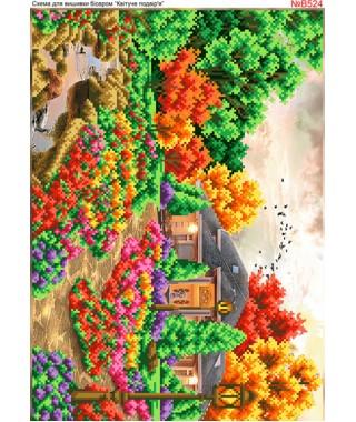 Схема вишивки бісером (хрестиком) Квітуче подвір*я (B524)