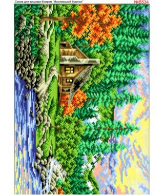 Схема вишивки бісером (хрестиком) Мисливський будинок (B534)