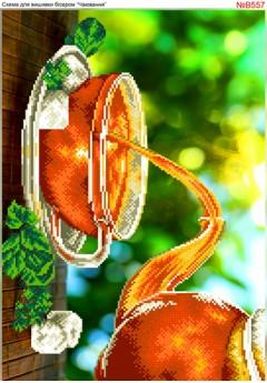 Схема вишивки бісером (хрестиком) Чаювання (B557)