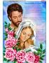 Схема вишивки бісером (нитками) Молитва про сім*ю (в трояндах) (рос) (B622)