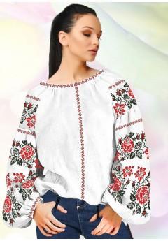Жіноча сорочка, білий льон (В96)