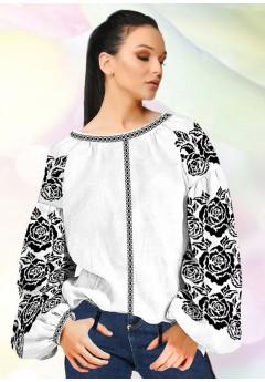 Жіноча сорочка, білий льон (B97)