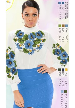 Заготовка вишиванки Жіночої Сорочки для вишивки бісером(вишивки хрестиком) Г (SZ2)