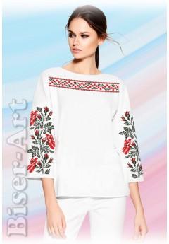 Заготовка вишиванки Жіночої Сорочки для вишивки бісером(вишивки хрестиком) Г (SZ100)