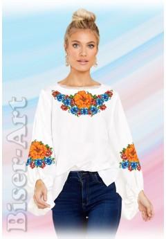Заготовка вишиванки Жіночої Сорочки для вишивки бісером(вишивки хрестиком) Г (SZ106)