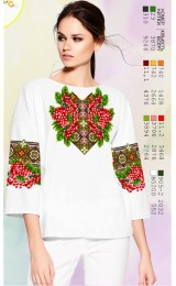 Жіноча сорочка, білий льон (SZ114)
